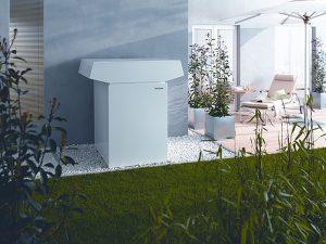 Luft-Wasser-Wärmepumpe, Außenaufstellung