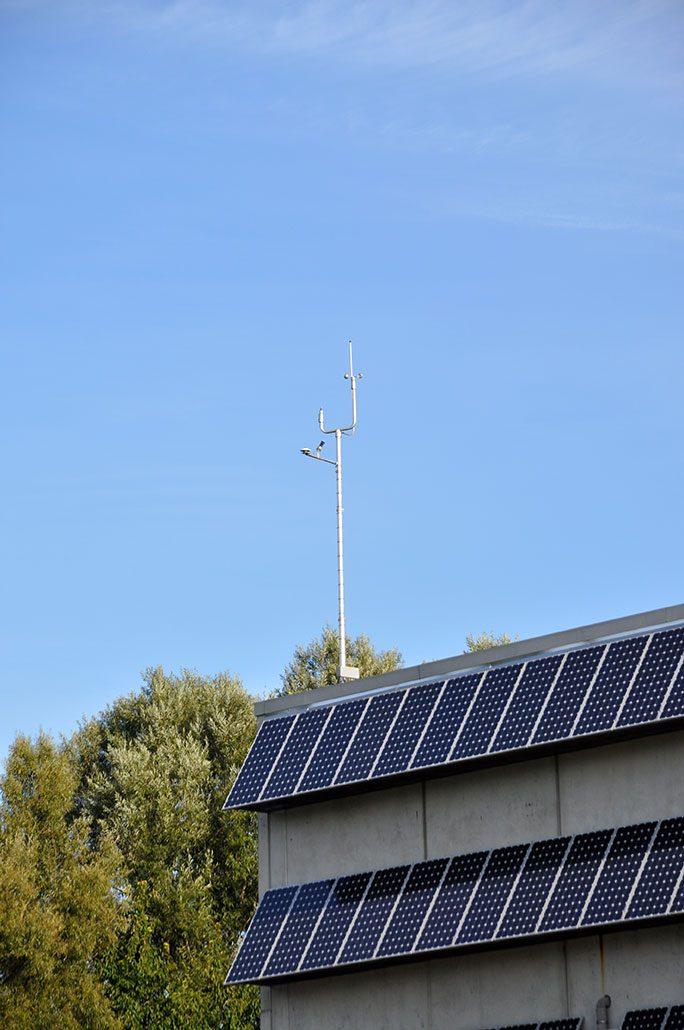 Windmesser für die Windkraft-Anlage