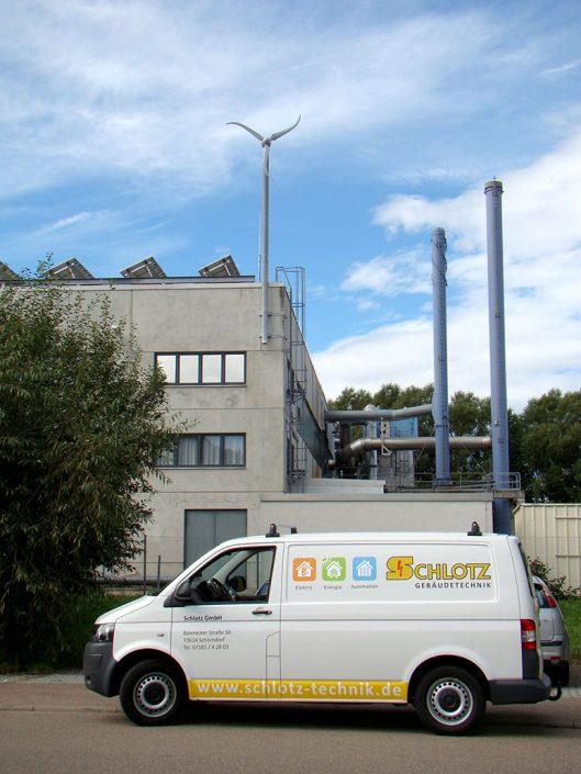 Fertige Klein-Windkraft-Anlage von Schlotz GmbH